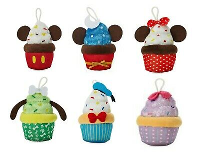Disney Store Cupcake Micro Plush Muffin Christmas Decoration Soft Toy Bauble  • 4£