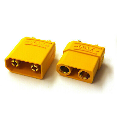 XT90 Connector Male / Female / Pairs: X1, X2, X5, X10, X20 - For RC LiPo Battery • 3.75£