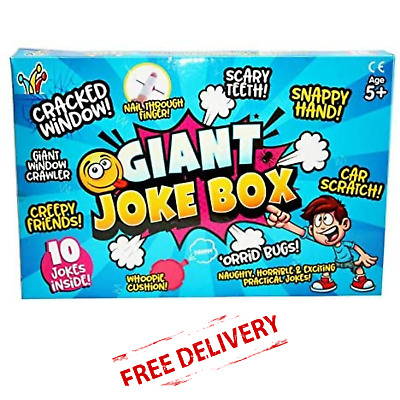 Practical Jokes Set Kids Pranks Boys Girls Toy Cool Prankster Kit W 30cm Snake • 16.95£