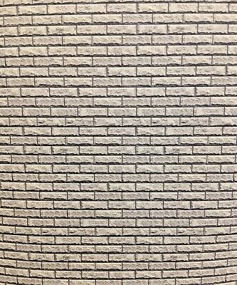 1/18 Diorama Grey Pitched Face Stone Walling  0208 • 15£