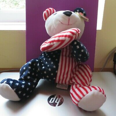 Ty Pillow Pals Collection Stars & Stripes 'Sparkler' Bear   • 6.99£