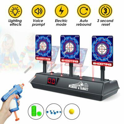 Electric Scoring Auto Reset Shooting Digital Target For Nerf Gun Toy Kids Gift • 12.78£