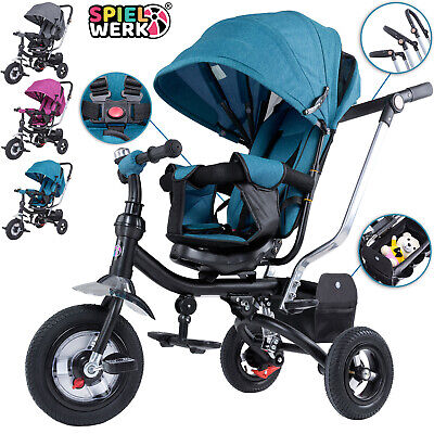 Kids Trike Boys Girls Push Along Tricycle Children Baby Buggy 3 Wheel Toddler • 84.95£