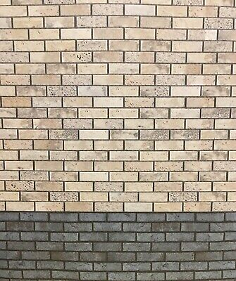 1/10 1/12 Diorama Two Tone Brick Walling  Grey And Blue 0223 • 15£