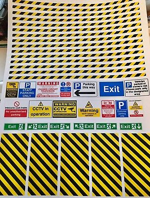 1/18  Car Park Signs And Lines   0095 • 8.50£