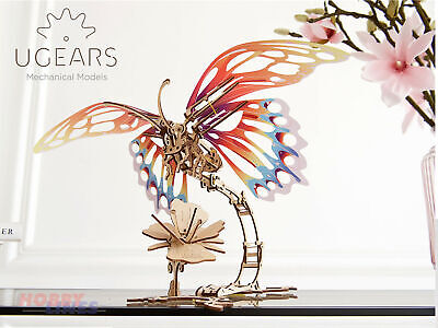 BUTTERFLY Wooden Mechanical Construction Insect 3D Puzzle Model Kit UGears 70081 • 27.85£