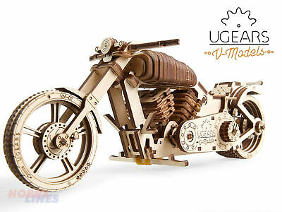 MOTORCYCLE VM-02 Bike Wooden Mechanical Construction Puzzle Kit UGears 70051 • 19.75£