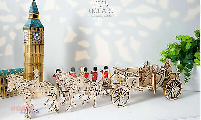 ROYAL CARRIAGE (Limited Edition) Wooden Mechanical 3D Puzzle Kit UGears 70050 • 26.99£
