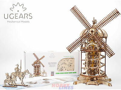 TOWER WINDMILL Wooden Mechanical Construction Mill 3D Puzzle Kit UGears 70055 • 52.19£