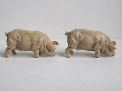 2 X CHERILEA 1960's FARMYARD PIGS. 1/32 PLASTIC ANIMALS.  • 1£