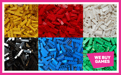 LEGO Brick Bundle - 25 Pieces - Size 1x4  - Choose Your Colour  • 4.99£