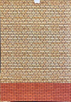 1/18 Buff And Red Brick Walling ( 5 Sheets) Portrait 0059 • 15£