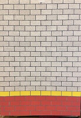 1/18 Grey , Yellow Block  And Red Block Walling ( 5 Sheets) Portrait 0075 • 15£