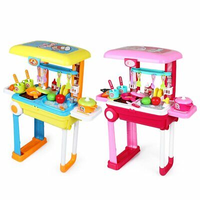 Kids Kitchen Cooking Food Toy Play Utensil Set For Child Boys Girls Pretend Gift • 18.99£