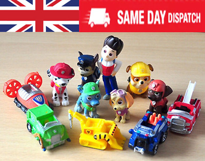 12pcs Paw Patrol Action Figures Puppy Patrol Dog Cake Toppers Kids Toy Gift  • 7.45£