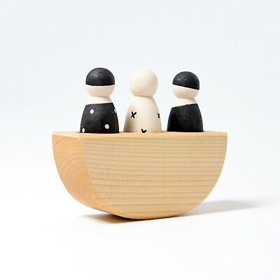 Grimm's Game And Wood Design 93000 Grei Friends In Boat Monochrome New • 21.63£