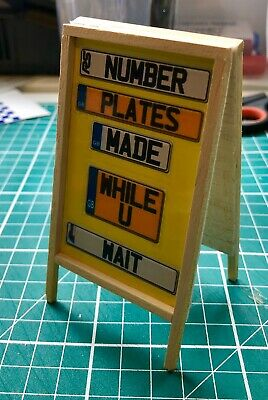 1/10 Scale A Board Sign For Garage Diorama • 7.50£