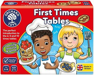 Orchard Toys First Times Tables Game, Multiplication Counting Maths Skills 5-8 • 10.99£
