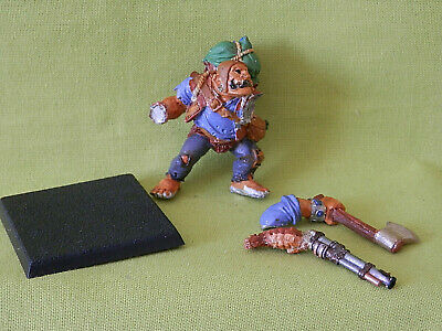 A5 Mordheim Games Workshop Hired Swords - Ogre Bodyguard Metal Model • 25£