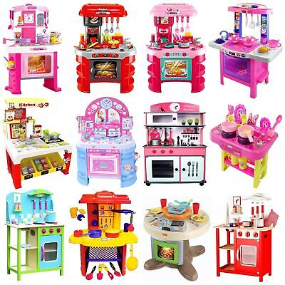 Childrens Kids Toy Pretend Role Play Kitchen Cooker Game Accessories Play Set • 19.99£