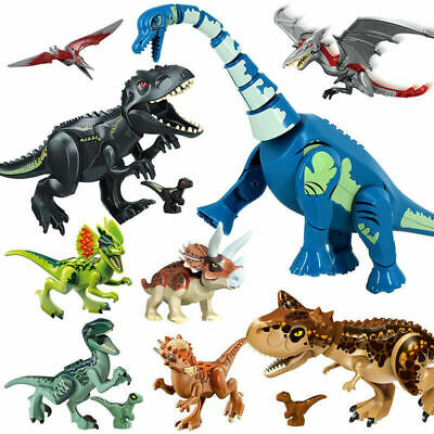 7x11  Large Size Dinosaur Figure Blocks Fit Lego Assembly Educational Toys Set  • 10.99£