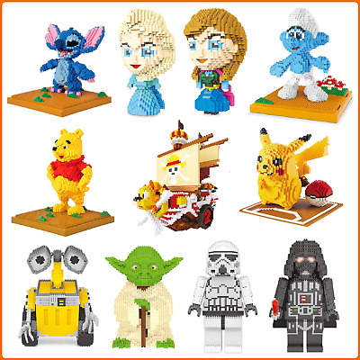 Action Figures Nano Micro Building Blocks Collection Educational DIY Toy Gift  • 24.99£