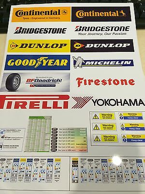 1/18 Scale TYRE BAY BANNER SHEET FOR DIORAMA (sheet 0003) • 8.50£