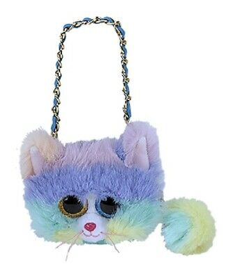 TY Heather Cat Mini Purse Sequined.with Golden Strap 95217 • 14.49£