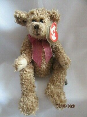 Ty Beanies Bear - Attic Treasures Berkley With Tag - Mint - Retired With Tags • 7.99£