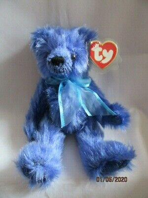 Ty Beanies Bear - Attic Treasures River With Tag - Mint - Retired • 7.99£