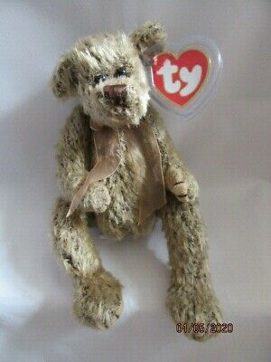 Ty Beanies Bear - Attic Treasures Birch With Tag - Mint - Retired • 5.99£