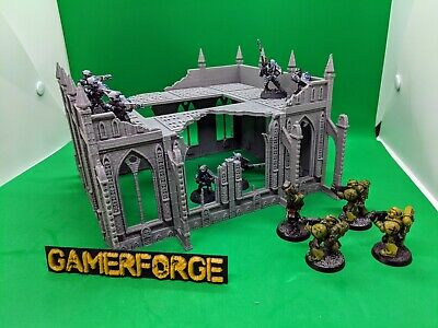 Ruined Cathedral Building For 28mm Terrain Scenery Wargame 40k Age Of Sigmar • 24.99£