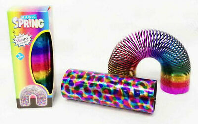 15cm Rainbow Magic Spring Coil Slinky Fun Toy Stretching 10m Bouncing • 5.99£