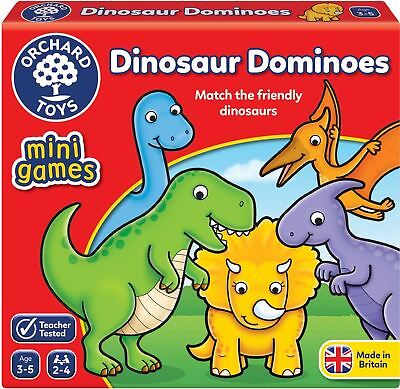 Orchard Toys MINI GAME DINOSAUR DOMINOES Educational Game Puzzle BN • 6.92£