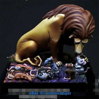 1/24 Lion And Mouse Queen Resin Figure Model Kits Unpainted R253 Garage Kit • 18.99£
