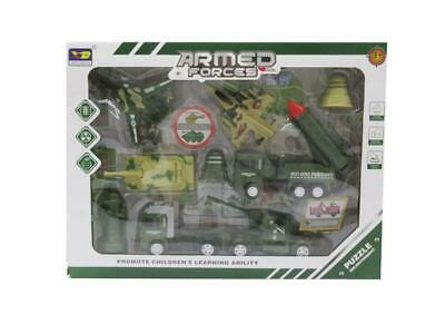 Kids Armed Force Army Vehicle Truck Tank Fighter Jet Accessories Toy Play Set • 8.99£