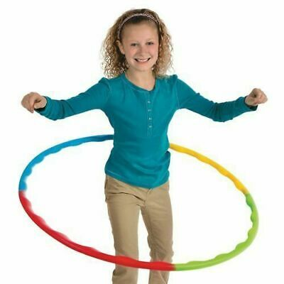 Kids Collapsible Adjustable Colourful Hula Hoop Indoor Outdoor Fitness Gymnastic • 2.95£
