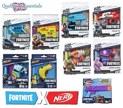 Nerf Elite Darts Gun Fortnite Microshots Blaster Kids Pistol Collectible Toys • 12.95£