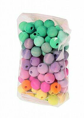 Grimm's Game And Wood Design 10259 - 120 Small Pastel Wooden Beads D 12mm • 13.53£