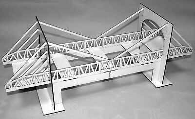 1:32 Scale Suspension Bridge With Underpass Kit - For Scalextric/Static Layouts • 30£