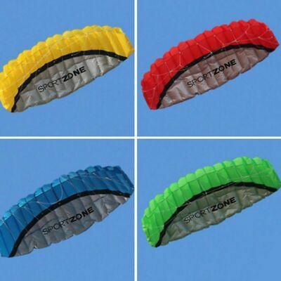 2.5m Huge Beginner Power Dual Line Stunt Parafoil Parachute Red Outdoor Kite • 23.99£