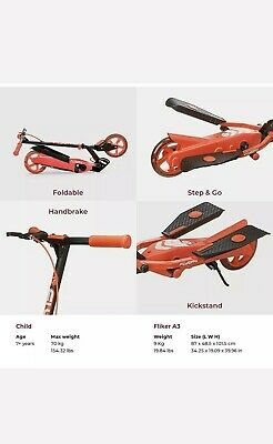 Yvolution Y Flyer Kids Foldable Pedalling Stepper Scooter Ages 7+ 100815-Red • 58.99£