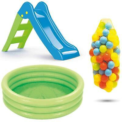 Dolu 3 In 1 My First Slide Inflatable Pool Ball Pit Set Outdoor Toy Toddler Kids • 49.99£