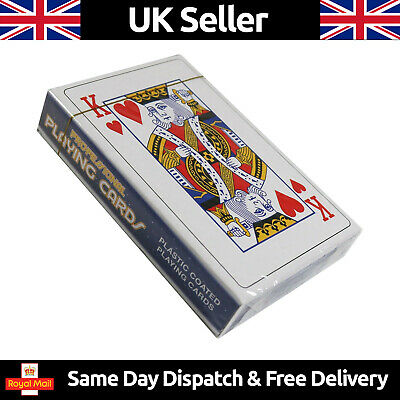 Playing Cards Deck - Poker Game Casino Plastic Coated Kids Adult  • 1.99£