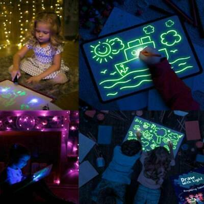 Light Up Drawing Fluorescent Magic Writing Board Kids Toys Fun And Developing • 7.68£