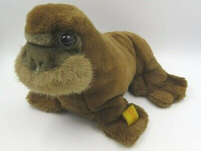 Steiff Soft Toy Walrus With Button In Ear (062902) • 25£