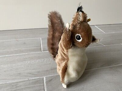 """10"""" Vintage Steiff Squirrel Puppet Very Rare With Price Tag Collectible • 149.99£"""