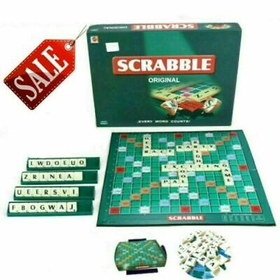 Original Scrabble Board Game Family Kids Adults Educational Toys Puzzle Game UK • 9.29£