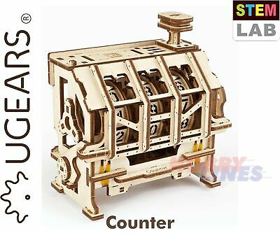 UGears STEM Lab COUNTER Model 71030 Wooden Construction Mechanical Puzzle 3D Kit • 13.49£