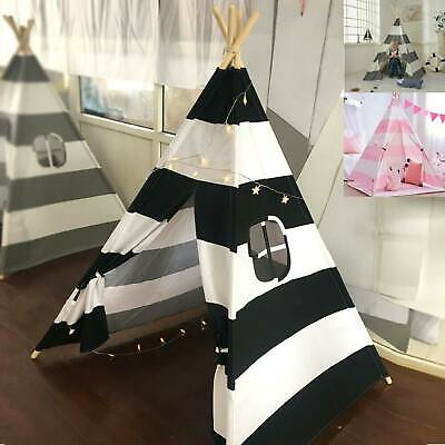 Cotton Canvas Kids Teepee Tent Childrens Wigwam Indoor Outdoor Play House Large • 24.99£